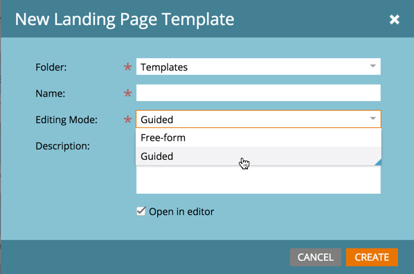 marketo-landing-page-template-creation