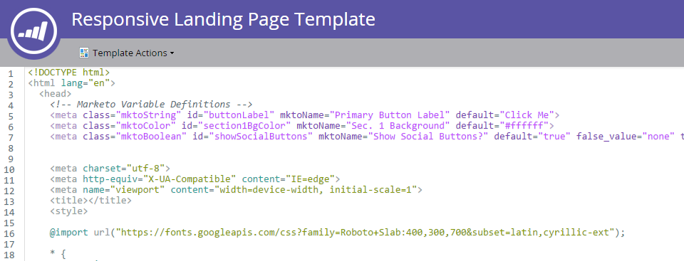 How To Code A Responsive Landing Page Template In Marketo - Marketo landing page templates