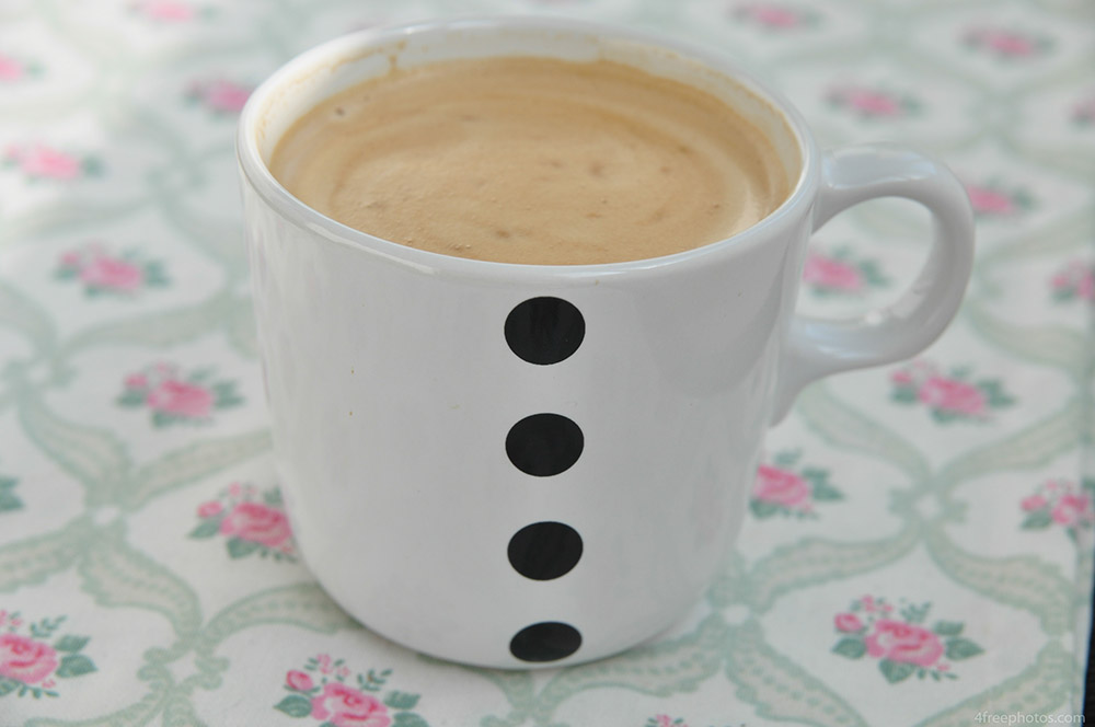 White cup of coffee