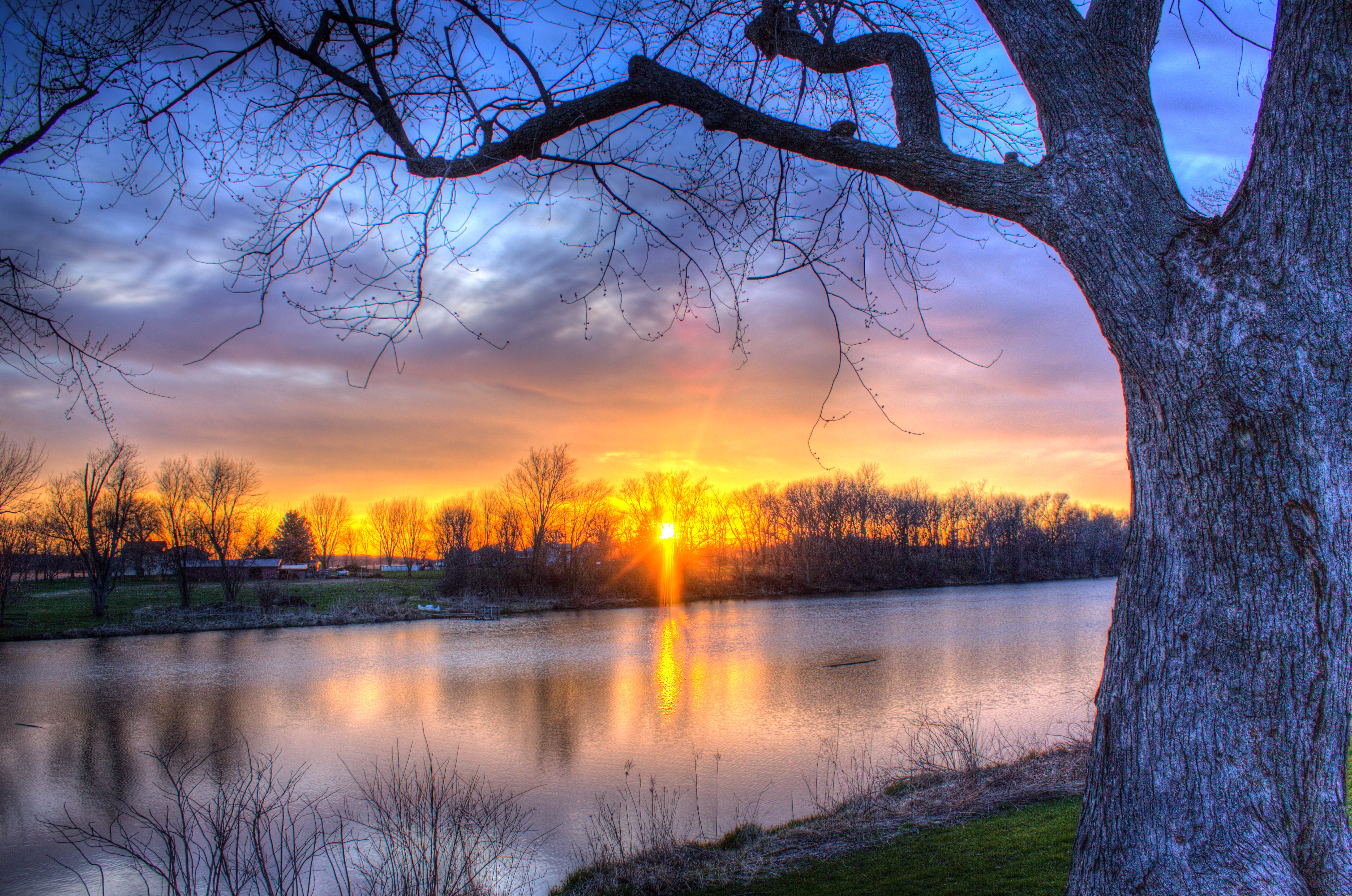 sunset-at-beckman-mill-with-pond-in-the-landscape-in-wisconsin