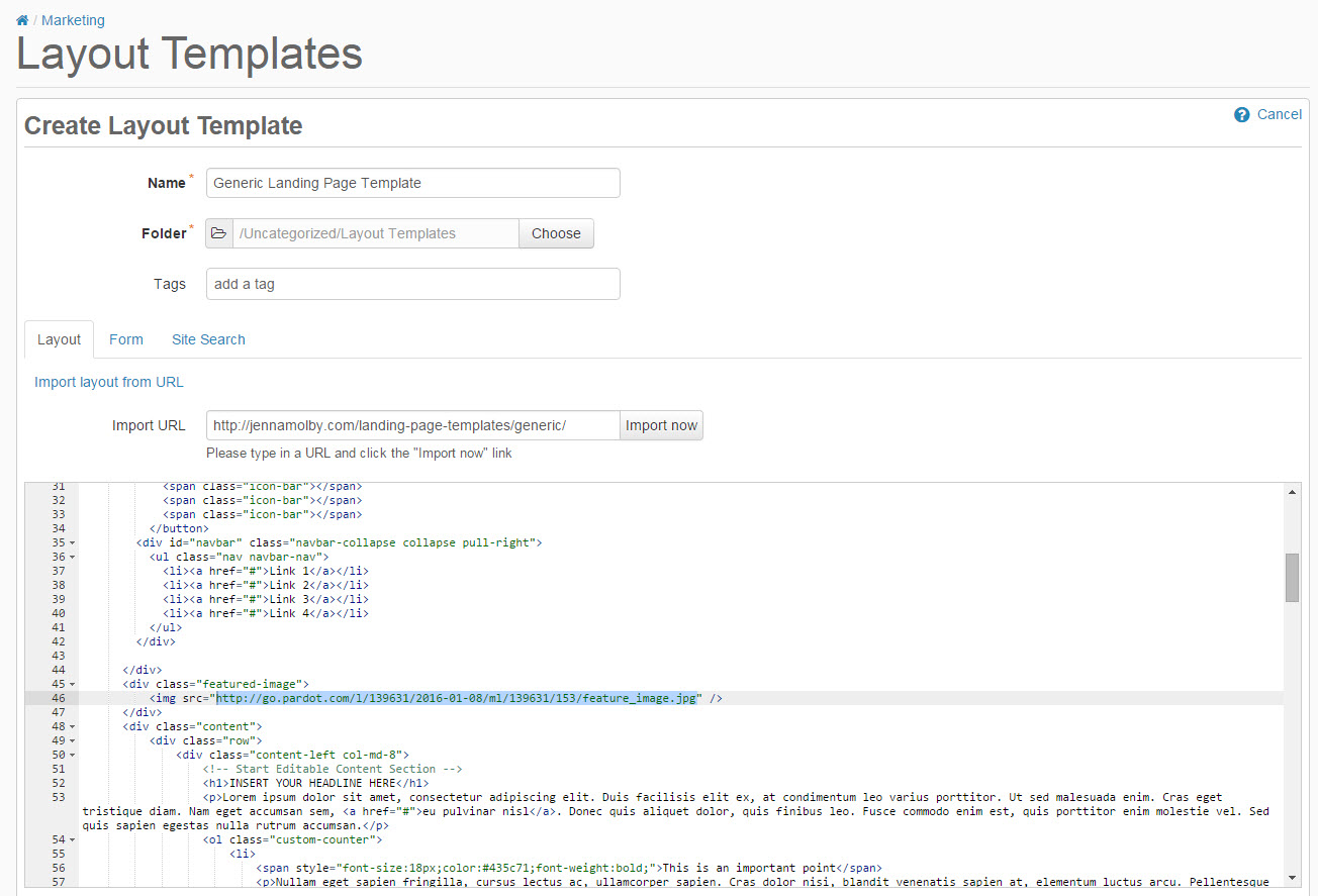 pardot-landing-page-template-replace-content