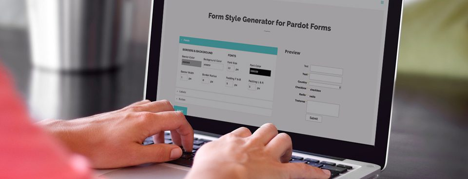 Introducing the Form Style Generator for Pardot Forms