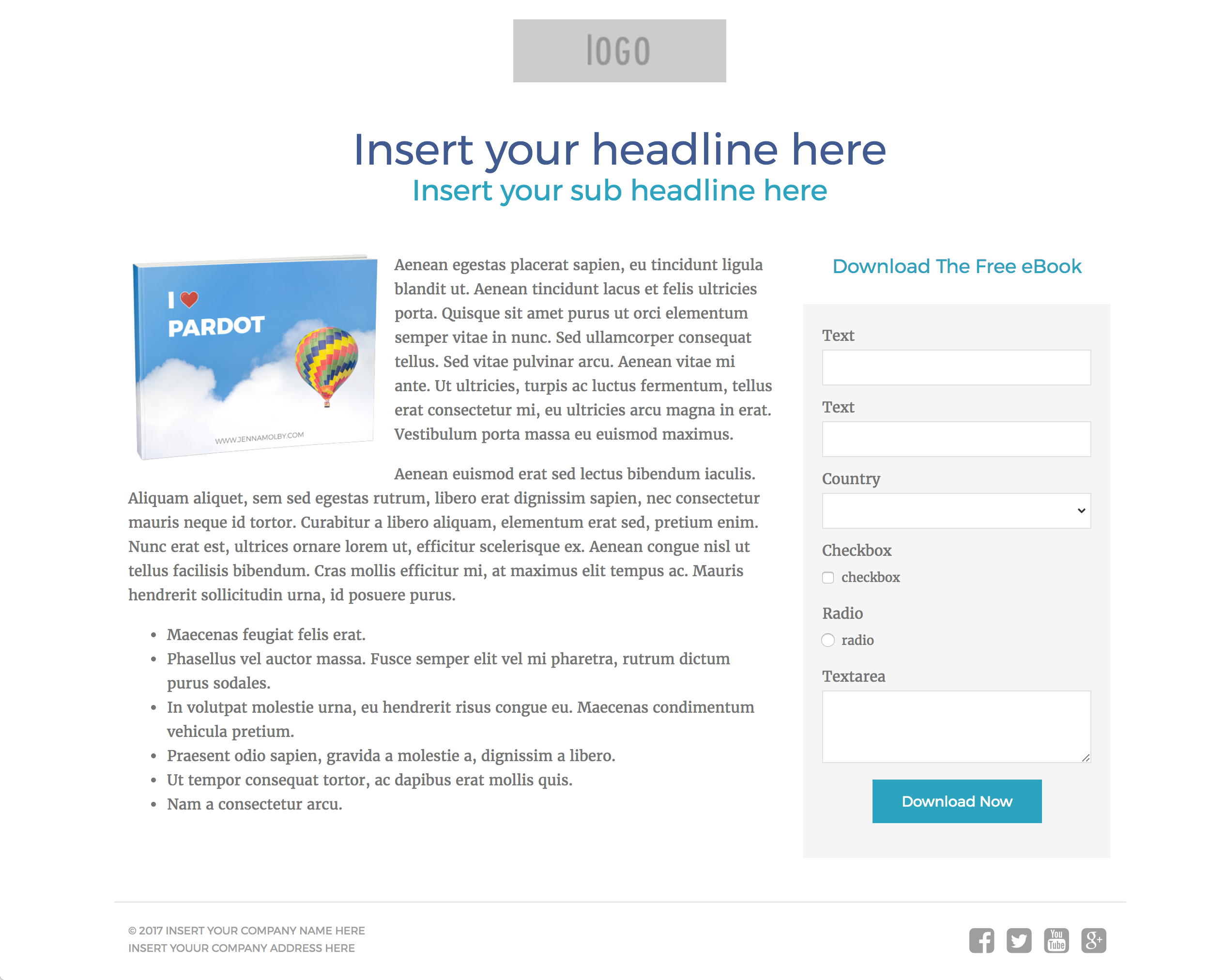 free landing page templates for wordpress - 3 free pardot landing page templates for asset downloads