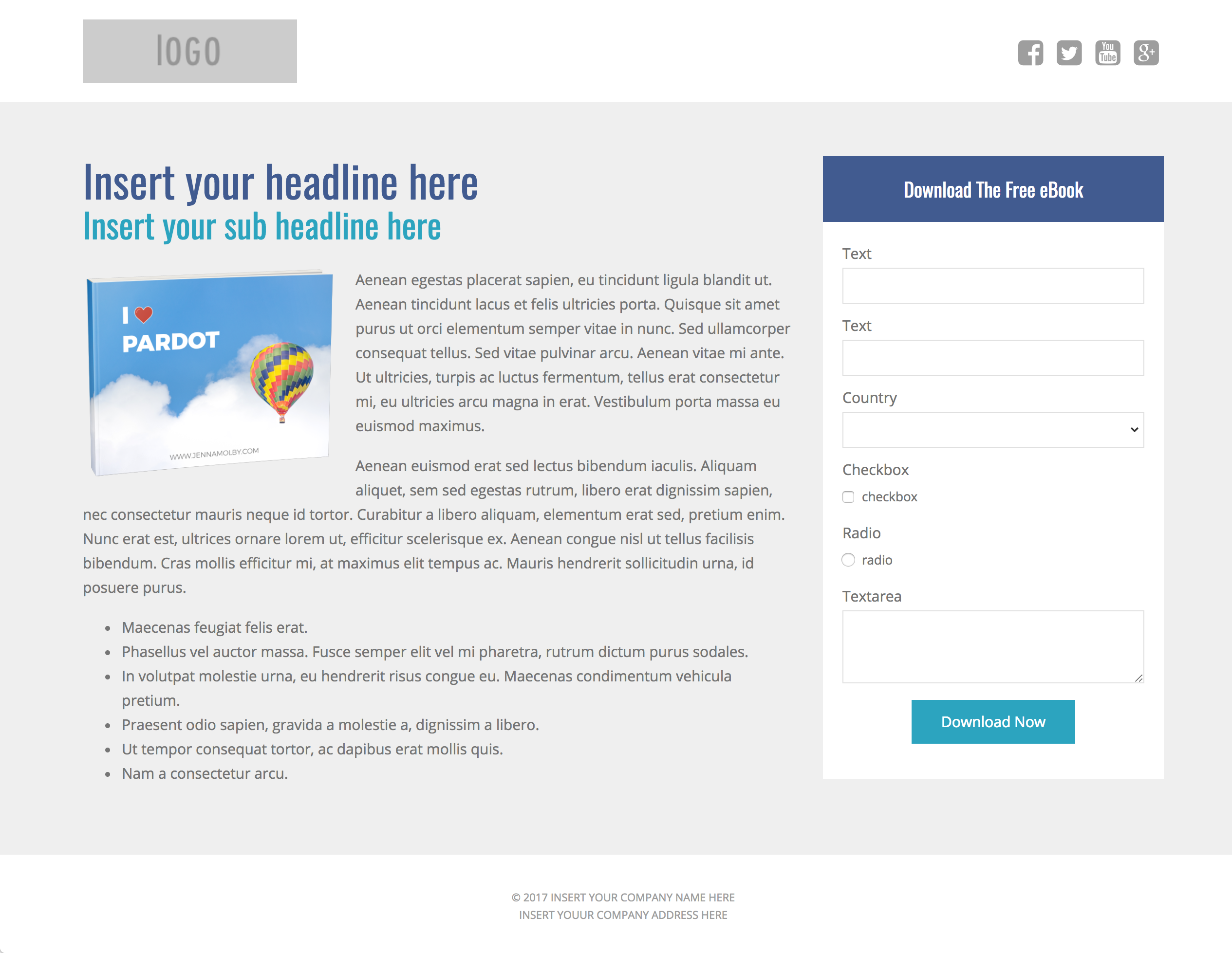 3 free pardot landing page templates for asset downloads