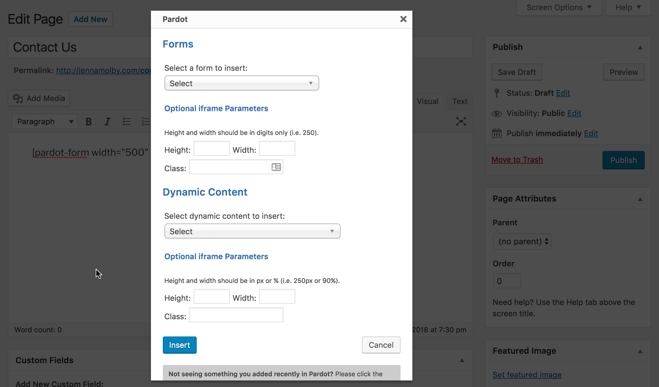 5 Ways to Include Pardot Forms on Your Wordpress Website